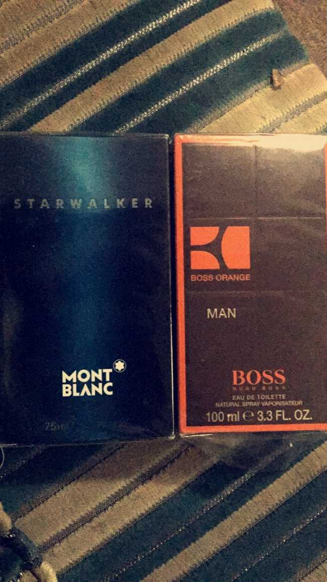 2 parfums Boss 100ml et MONT-BLANC 75ml