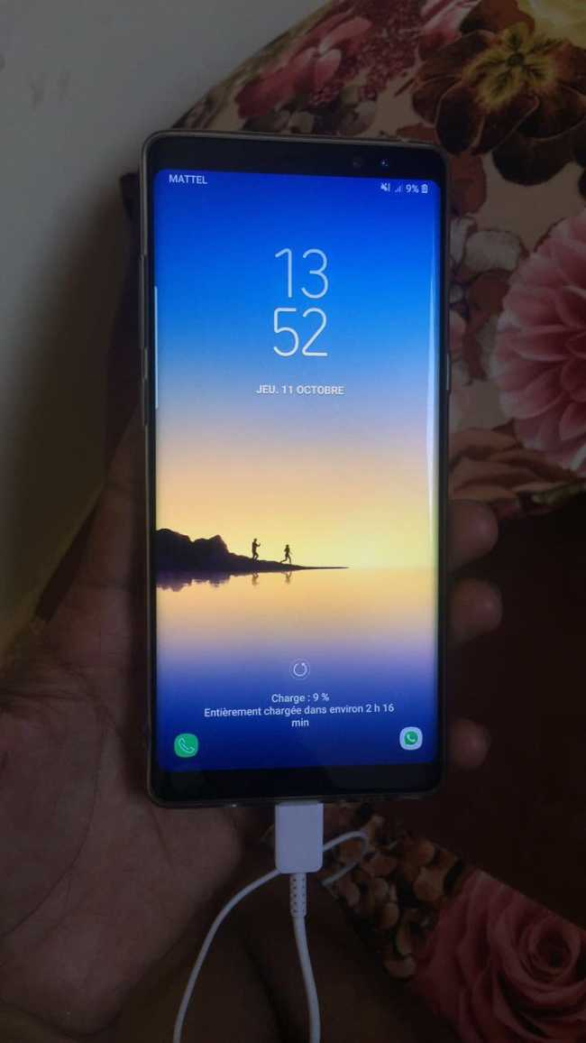 galaxy note 8 en bon etat 64G