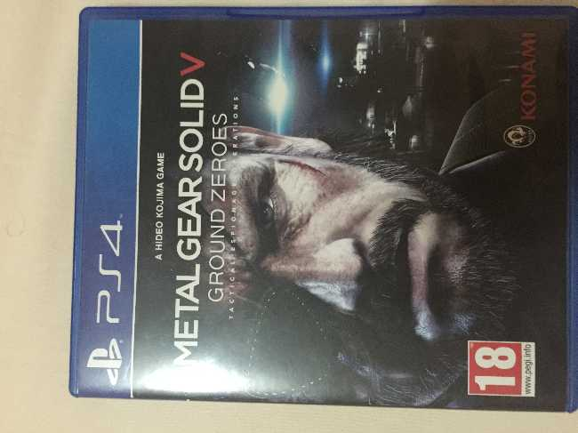 Metal Gear Ground Zeroes-PS4 - voursa com