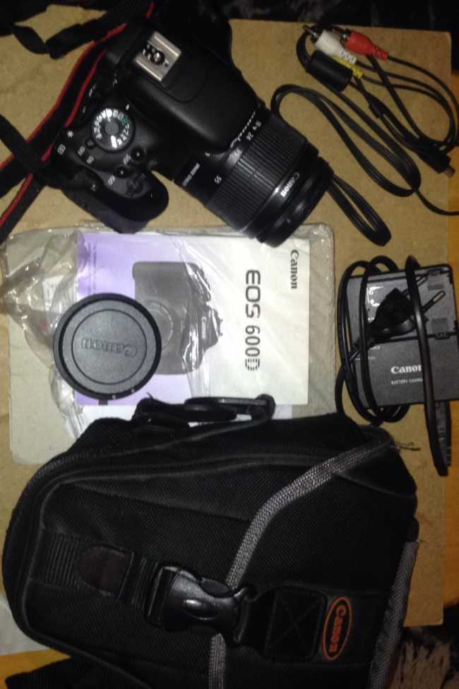 Canon EOS 600D + Obj. Canon EF-S IS 18 - 55 mm f/3.5 -